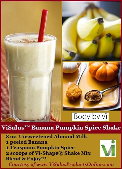 ViSalus Banana Pumpkin Spice Shake Recipe
