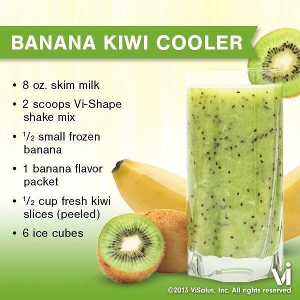 Banana Kiwi Cooler visalus-shake-recipe